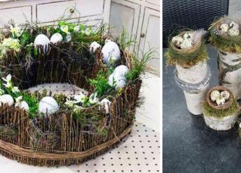 Флористичні композиції: ідеї для створення пташиних гнізд