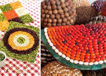 Композиції із кукурудзи, круп, бобових та насіння. 55 ідей для творчості