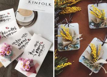 Красиві листівки із букетиками: 30 варіантів для реалізації самотужки