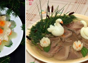 Холодець як витвір мистецтва: цікаві варіанти для оформлення страви