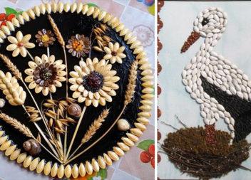 Аплікації та вироби із гарбузового насіння: 37 ідей
