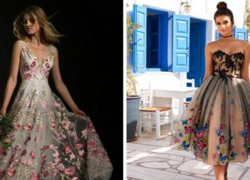 Чарівні сукні із вишивкою квітами (25 ідей)