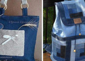 65 неймовірних сумок та рюкзаків, створених зі старих джинсових речей