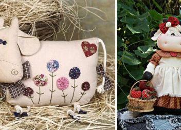 Ідеї для виготовлення текстильних корівок (15 фото)