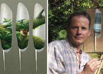 Картини на лебединих пір'їнах: мистецтво в мініатюрі