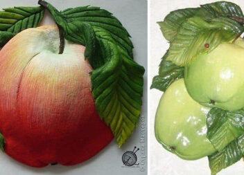 Ліпимо і розфарбовуємо яблука із солоного тіста. Рецепт та процес виготовлення