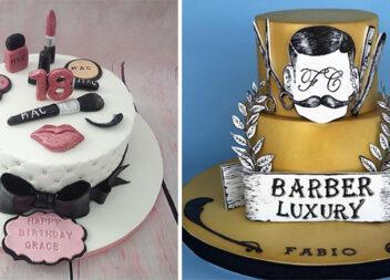 Святкові торти для стилістів, перукарів, візажистів, манікюрниць та барберів (90 ідей красивої випічки)