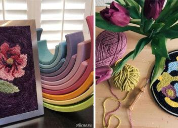 Вишивка в килимовій техніці (rug hooking): ідеї + відео майстер-клас