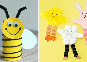 Дитяча творчість: аплікації із паперу, ниток, дерев'яних паличок та інших матеріалів (65 фото)
