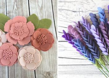 Майстер-класи із виготовлення різноманітних квітів із повсті (65 варіантів)