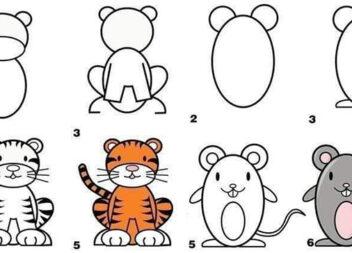 Вчимося малювати самотужки: ідеї для дорослих та дітей (більше 30 фото для навчання)