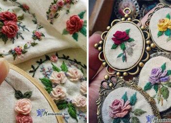 Витончені візерунки: вишиваємо троянди в техніці рококо (схеми, майстер-класи та ідеї)