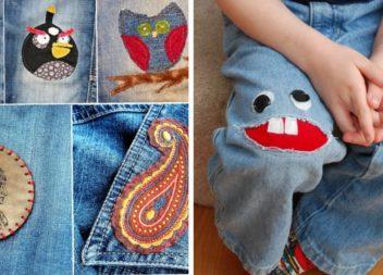 Веселі та модні дитячі латки на джинси (17 ідей)