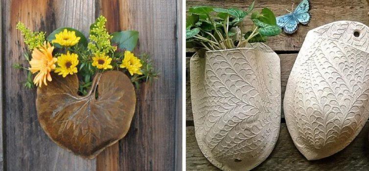 Настінні керамічні кишені для квітів та інших дрібниць (більше 40 фото)