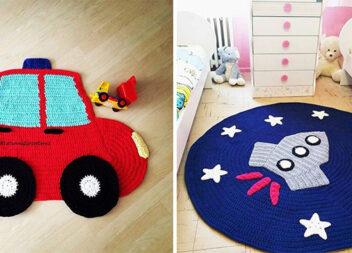 Цікаві ідеї килимків гачком для хлопчаків