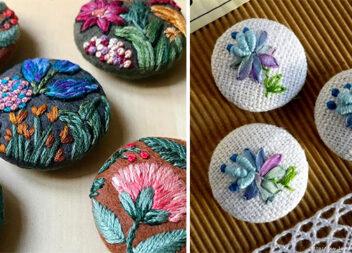 Елемент декору: ґудзики з вишивкою. Схеми та ідеї