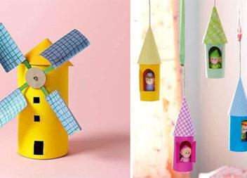 Креативні ідеї використання картонних циліндрів з-під туалетного паперу та паперових рушників