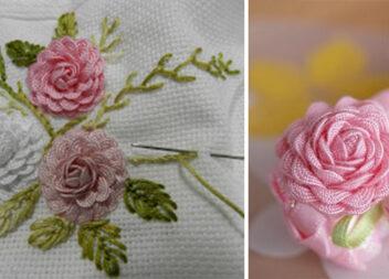 Чарівні трояндочки з тасьми зигзаг. Просто і красиво! Майстер-клас