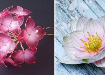 """Казкові квіти з дроту в техніці """"Вітраль"""". Краса неземна! Ідеї та майстер-класи"""