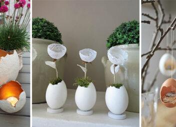 Ідеї використання яєчної шкарлупи у весняному декорі (25 ідей)