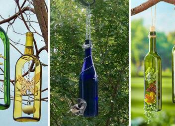 Виготовляємо красивий декор із порожніх пляшок для саду