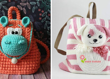 Дитячі рюкзаки гачком: яскраві ідеї та відео майстер-класи
