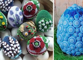 Пасхальне яйце в техніці квілінг: нереальна краса своїми руками