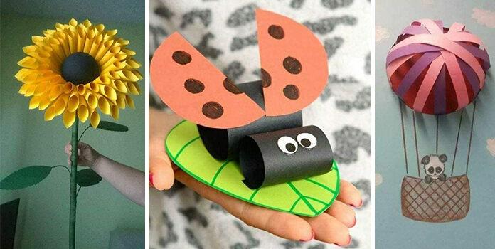 Дитяча творчість: красиві паперові аплікації (44 ідеї)