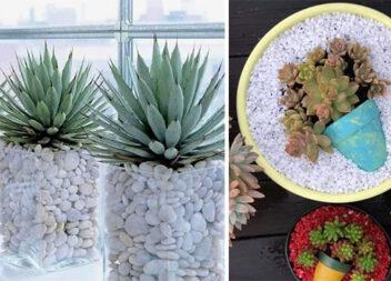 Прикрашаємо вазони камінцями та декоративними елементами (більше 50 фото)