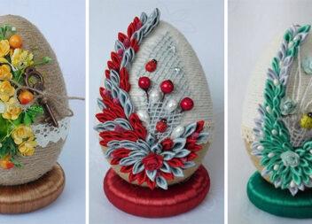 Декоруємо великодні яйця джутом: ідеї та відео майстер-класи