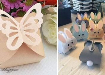 Святкові кошички із паперу для подарунків. Шаблони