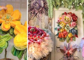 Неймовірні квіти із паперових рушників. Ідеї для натхнення