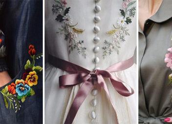 Елегантна вишивка на одязі: 35 неперевершених візерунків