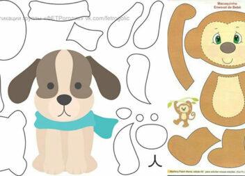 Паперові аплікації тварин, які можна використати як викрійки для пошиття іграшок
