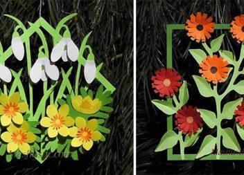Паперові аплікації та листівки: творимо весняну красу самотужки (18 варіантів)