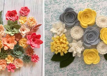 Квіти із фетру: створюємо кольорові композиції самотужки