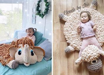 В'язані іграшки-килимки: м'якенькі вироби для вашого маляти
