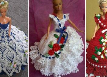 В'яжемо плаття для Barbie: 30 креативних фасонів