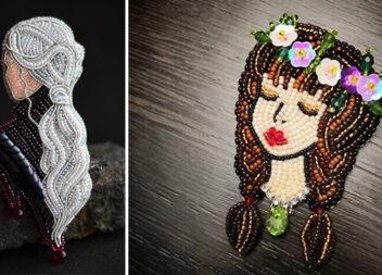 Неймовірні брошки із бісеру: 25 чарівних прикрас