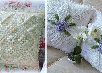 Виготовляємо подушку самотужки: красиві ідеї для натхнення в техніці в'язання гачком