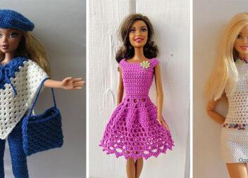 Сучасне в'язане вбрання для Barbie: 30 красивих комплектів