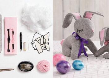 Великодній кролик: м'яка іграшка власноруч