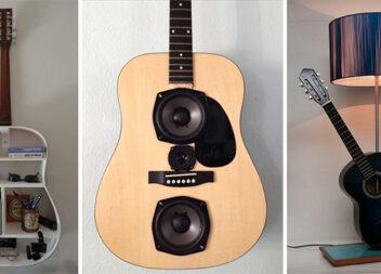 Декор зі старої гітари: переробляємо музичний інструмент на елемент інтер'єру