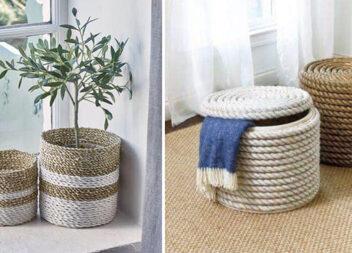 Домашній декор із мотузки та канату (ідеї та майстер-класи)