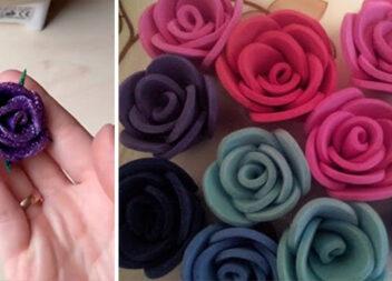 Фоаміран - чудовий матеріал для створення витончених троянд