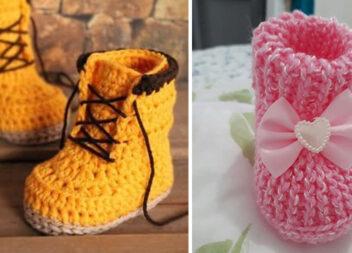 Взуття для маленьких дітей зв'язане гачком: 21 фото ідея