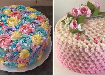 29 красивих тортів, креативно оформлених кольоровим кремом