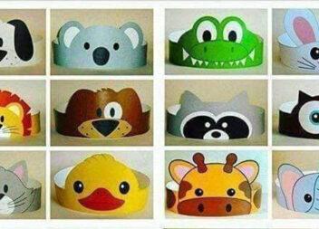 Паперові маски для дитячого свята. Шаблони