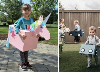 25 костюмів із картонних коробок для дитячих ігор