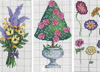 Вишиваємо квіти та квіткові орнаменти. Схеми